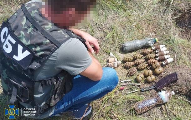 Для диверсій в Україні: на Луганщині СБУ виявила схованку сепаратистів