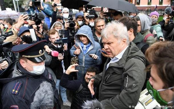 У Москві пройшла акція за свободу ЗМІ і проти закону про  іноагентів