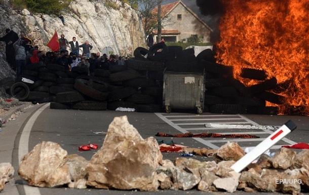 В ходе протестов против церкви в Черногории пострадали десятки человек