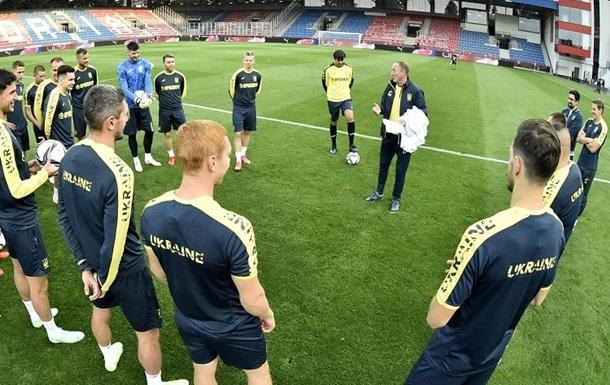 Збірна України провела передматчеве тренування в Чехії
