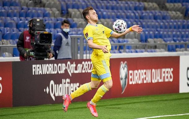 Казахстанець, який забив два голи Україні, провалив допінг-тест