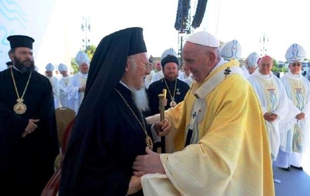 Папа Римський зустрівся з патріархом Варфоломієм