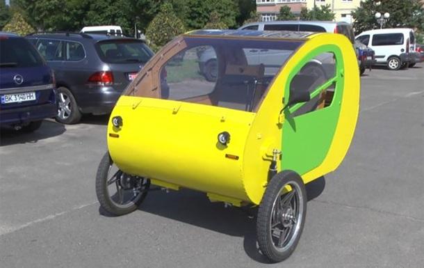 Ровенский инженер создал трехколесный электромобиль