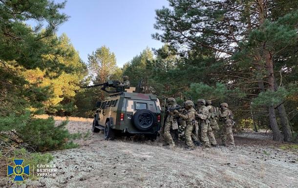 СБУ провела навчання на кордоні з Білоруссю