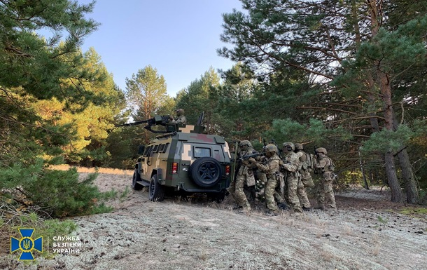 СБУ провела учения на границе с Беларусью