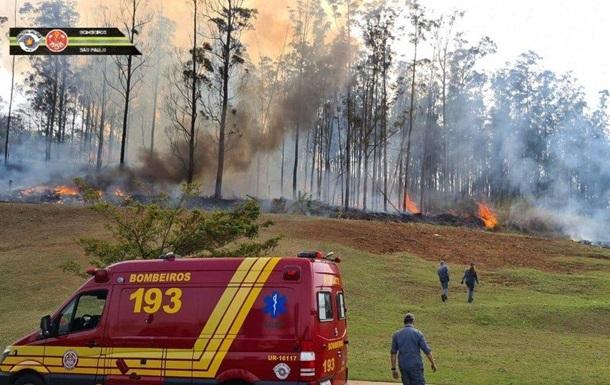 В Бразилии упал самолет, есть жертвы