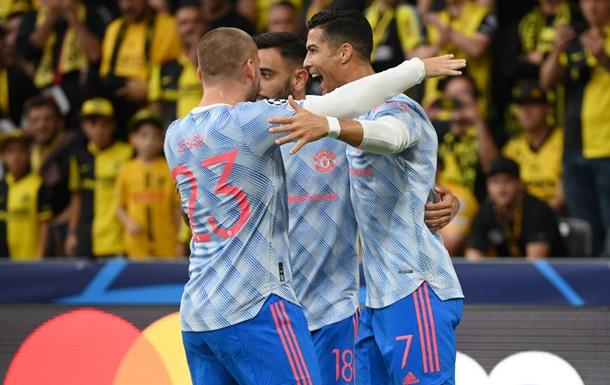 Криштиану забил в первом матче Лиги чемпионов после возвращения в МЮ