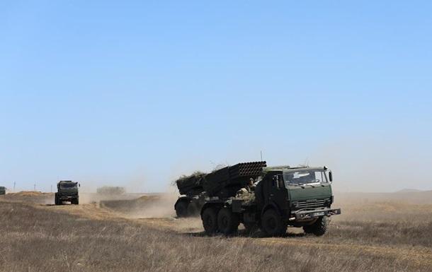 РФ у Криму проводить артилерійські навчання з бойовою стрільбою