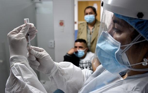 COVID-прививки получили еще 123 тысячи украинцев