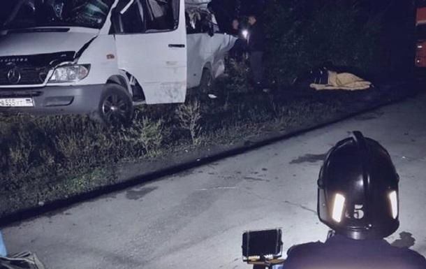 В России разбился микроавтобус из Горловки, есть жертвы