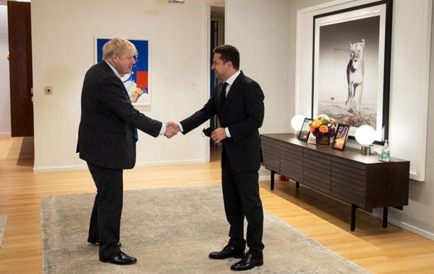 Зеленський зустрівся з прем'єром Великої Британії Джонсоном: що обговорили