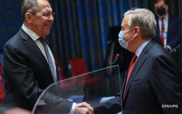 Гутерріш і Лавров обговорили Україну