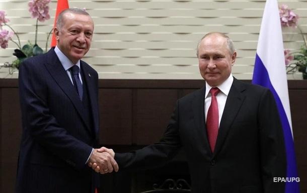 Путін провів переговори з Ердоганом у Сочі