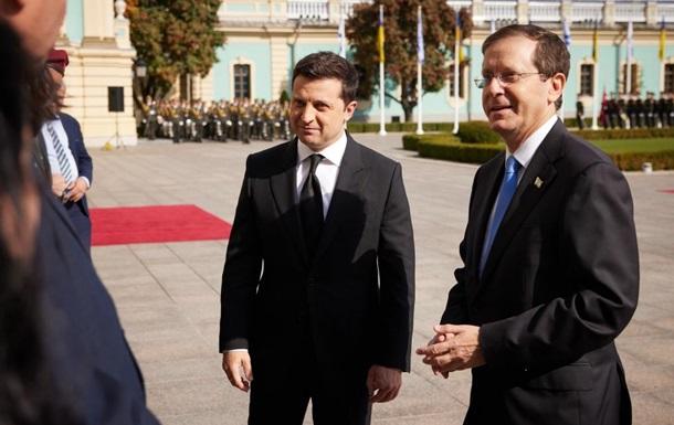 Зеленський зустрівся з президентом Ізраїлю