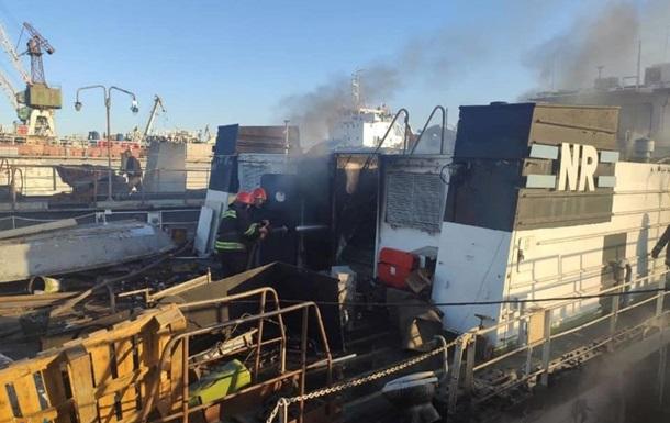 В Измаиле на судоремонтном заводе произошел пожар