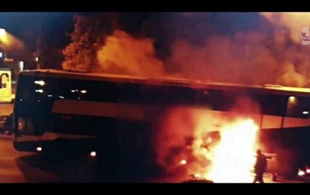 В Польше загорелся автобус с украинцами