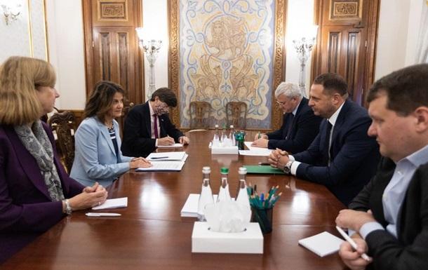 Ермак провел встречу с заместителем помощника госсекретаря США