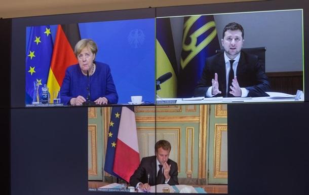 Зеленський, Меркель і Макрон обговорили Донбас