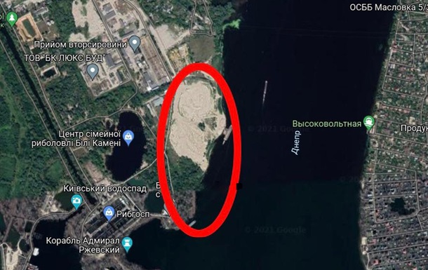 Территориальной общине Киева вернули 17 га земли на берегу Днепра