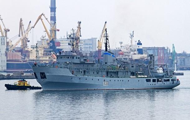 В Черном море спасли терпящий крушение корабль ВМФ Украины