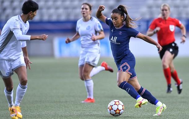 Жилстрой-1 без шансов уступил ПСЖ в матче женской Лиги Чемпионов