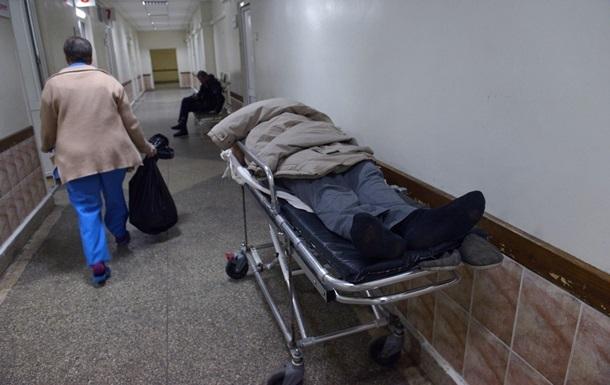 В Крыму на пациентку больницы обрушился потолок