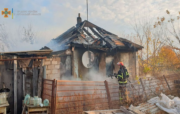 В пожаре на Луганщине погибли двое