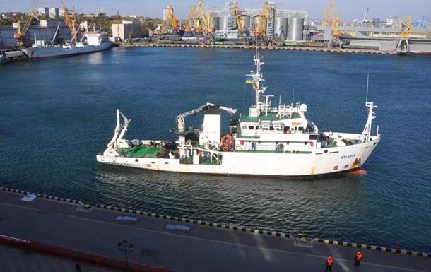 В Украину прибыло подаренное Бельгией исследовательское судно