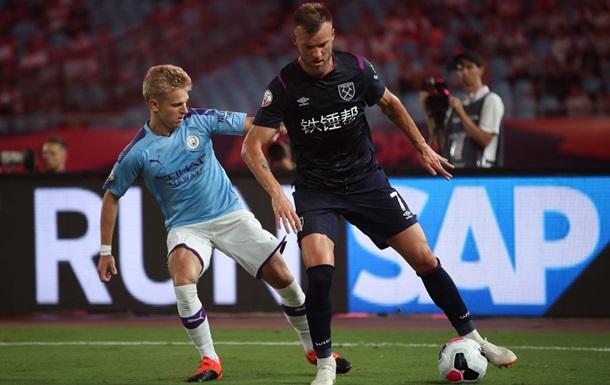 Ярмоленко и Зинченко - в старте на матч Кубка лиги Англии Вест Хэми - Манчестер Сити